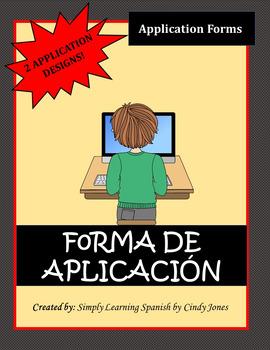 "SPANISH ""APPLICATION FORM"""