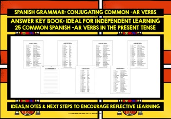 SPANISH -AR VERBS CONJUGATION #1 DISTANCE LEARNING