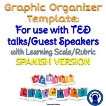 SPANISH Active Listener Template for Use with TED talks/Guest Speakers