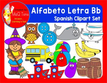 alfabeto letra bb spanish alphabet letter bb phonics clipart set alfabeto letra bb