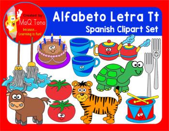 SPANISH Alphabet Letter Tt Phonics Clipart Set ... ALFABETO Letra Tt
