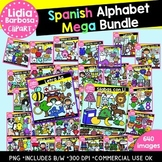SPANISH Alphabet Mega Bundle Clipart