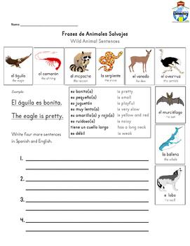 SPANISH: Animal Vocabulary