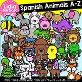 SPANISH Animals A-Z Clipart Bundle