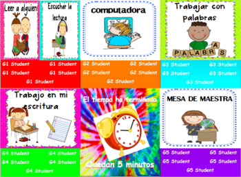 SPANISH Automated Reading Centers / Daily 5 Powerpoint