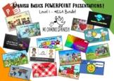 SPANISH BASICS PowerPoint Presentations MEGA BUNDLE! (Level 1)