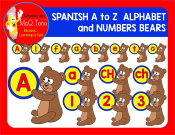 SPANISH BEARS ALPHABET AND NUMBERS