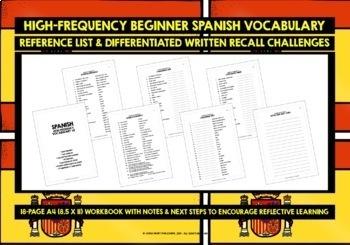 SPANISH VOCABULARY CARDS #2