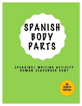 SPANISH BODY PARTS HUMAN SCAVENGER HUNT