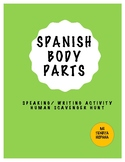 SPANISH BODY PARTS HUMAN SCAVENGER HUNT