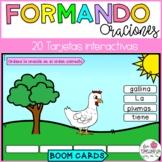 Spanish Boom cards   Formando Oraciones en Español