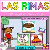 Las Rimas en Boom Cards | Rhyming Cards In Spanish