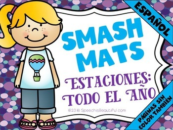 SPANISH BUNDLE: 3 Smash Mat Products: Categories, Seasonal, & Vocabulary NO PREP