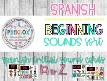 SPANISH Beginning Sounds Pocket Chart Sort