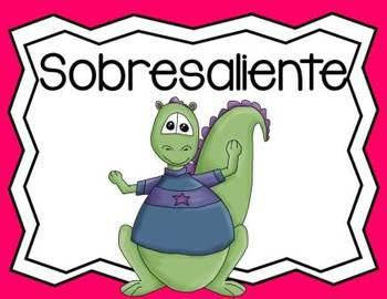 SPANISH Behavior Management Clip Chart Dinosaur Theme