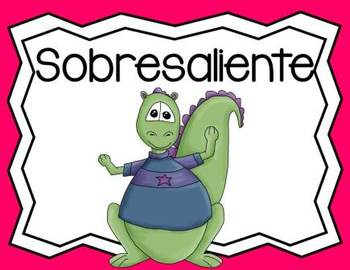 SPANISH Behavior Management Clip Chart Dinosaur Theme