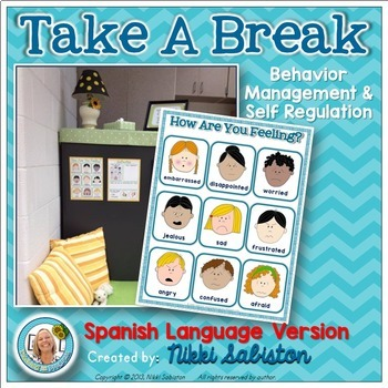 SPANISH - Behavior Management and Self Regulation - Take A Break