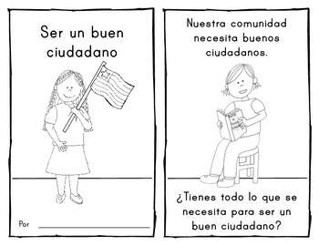**SPANISH** {Being a Good Citizen} EMERGENT READER for Social Studies