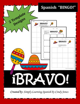 "SPANISH ""Bingo Boards"""