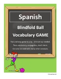 SPANISH Blindfold Ball Game Vocabulary, Conjugations, Test