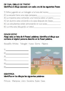 SPANISH Breves Historias Ilustradas con Actividades De Comprension