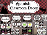 SPANISH Buffalo Plaid Classroom DECOR - Decoraciones para la clase