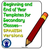 SPANISH Bundle: Beginning of the Year Goal-Setting/End of