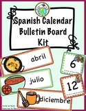 SPANISH CALENDAR Bulletin Board Kit Cultural Foods Themed