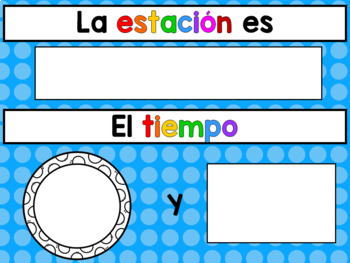 SPANISH CALENDAR KIT featuring frames from Creative Clips
