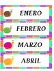 SPANISH CALENDAR NUMBER CARDS- ESPAÑOL-Snail Theme