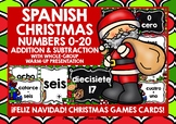 SPANISH CHRISTMAS NUMBERS 0-20 CALCULATION CARDS