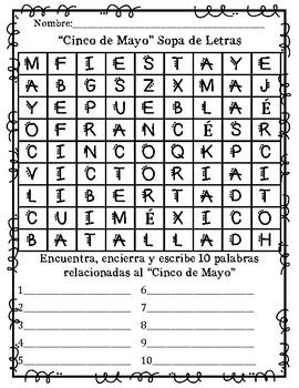 In SPANISH / CINCO DE MAYO