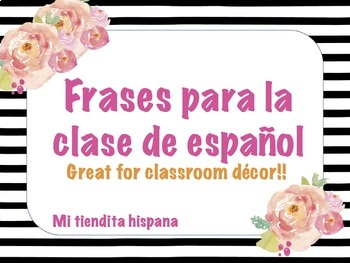 SPANISH CLASS DECOR: VERB & WORD WALL, USEFUL PHRASES, & QUESTION WORDS