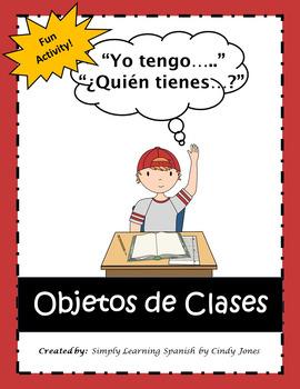 """SPANISH """"Yo tengo...Quien tiene..."""" (""""I have...Who has...?"""") Activity"""