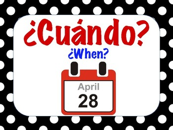 SPANISH CLASS POSTERS: QUESTION WORDS