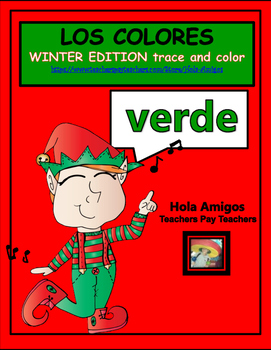 LOS COLORES 11 Spanish winter themed trace & color sheets