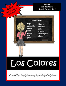 "SPANISH ""Colors"" ACTIVITIES"