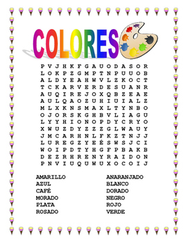 SPANISH COLORS-Vocabulary & Colorea tu Helado Favorito- Spanish I & II