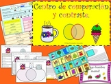 SPANISH COMPARE AND CONTRAST LITERACY CENTER (POSTERS, WOR
