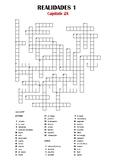 SPANISH - CROSSWORD - Realidades 1 Capítulo 2A