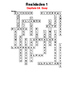 SPANISH - CROSSWORD - Realidades 1 Capítulo 3A (easy)