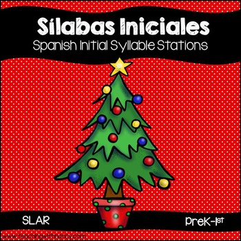 SPANISH: Christmas Initial Syllable Stations