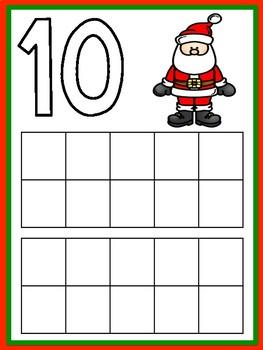 SPANISH- Christmas Number Mats