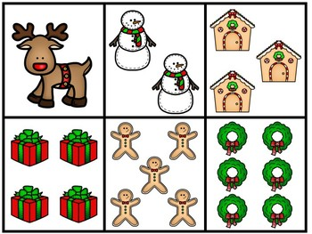 SPANISH Christmas Number Memory Game and Write the Room