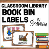 SPANISH Classroom Library Labels - Book Bin Labels