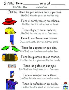 SPANISH: Clothing Conversation Vocabulary