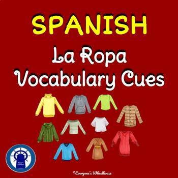 SPANISH Clothing Vocabulary Cues