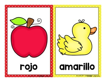 SPANISH Color Cards