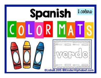 SPANISH Color Mats (for UTAH)