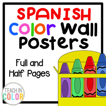SPANISH Color Posters - Full & Half Pages